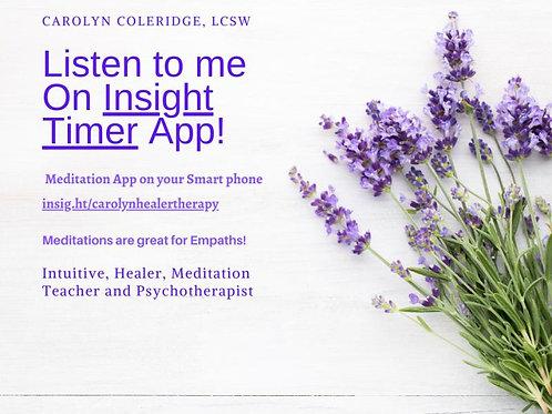 Insight Timer Meditation Teacher - Download app on your smart phone