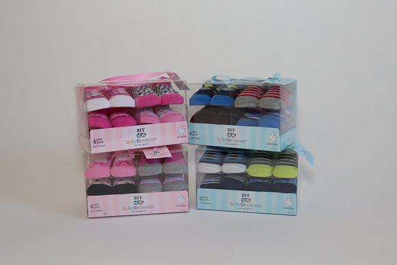 4 Box Set Collection of Infant Boy & Girl Socks