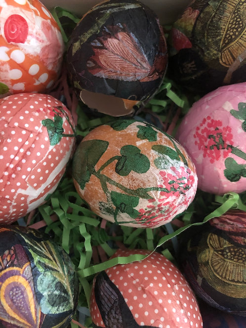 Hand decorated candy filled Easter Eggs
