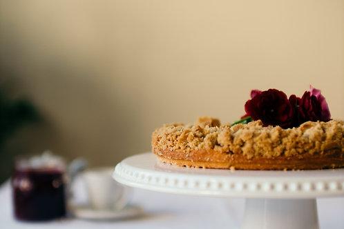 "Streuselkuchen - German Crumble Cake (9"")"