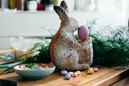 Bunny shaped German Marble Pound Cake