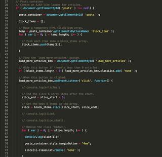 Load posts code