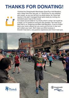 SimplyHealth Great Manchester Half Marathon 2019 Thanks A4 Poster