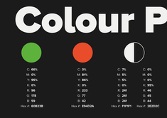 Brand guidelines colour palette