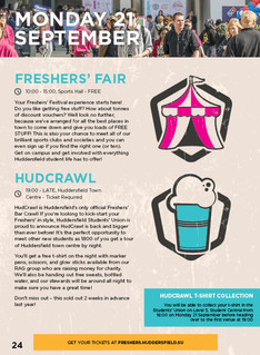 Freshers Survival Guide Monday