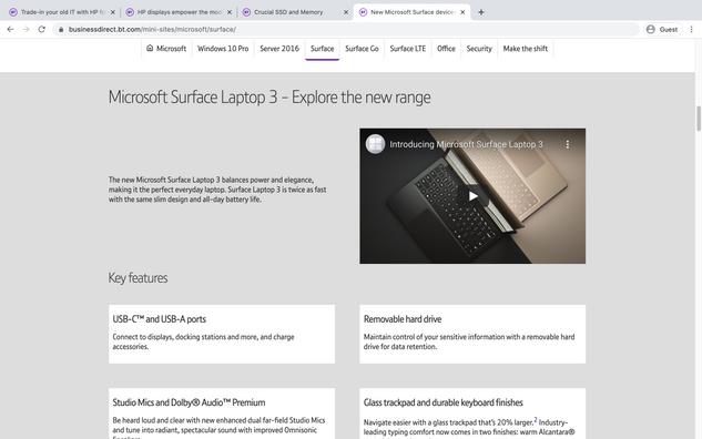 Surface 3 Laptop