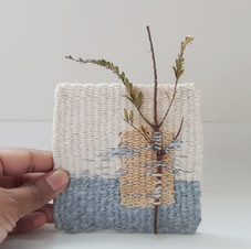 Mini Tapestry with Dried Sprig