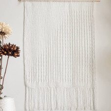 Dainty White Handwoven Wall-hanging