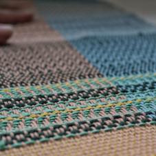 Twill Weaving Sampler Close Up