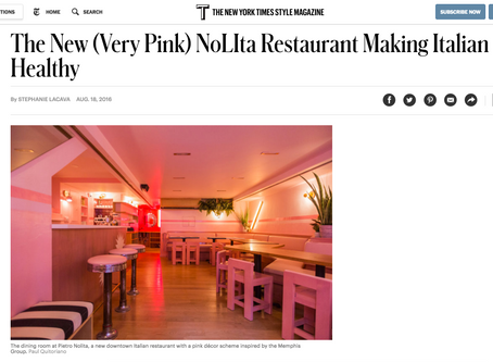 'Pietro Nolita' featured in the New York Times