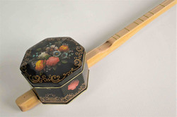 Floral Tin One String Canjo