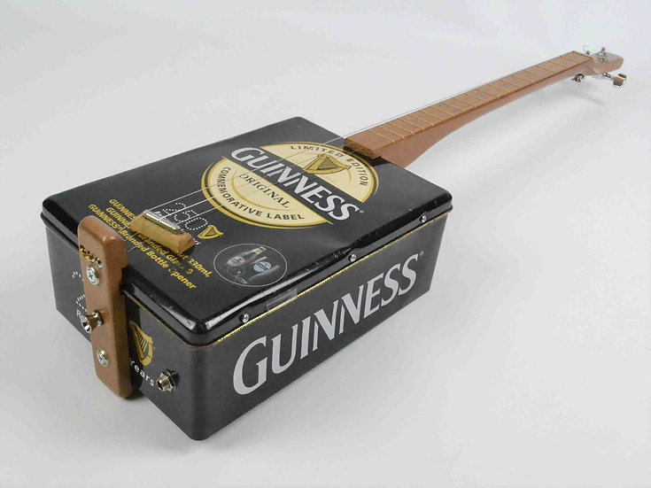 Upcycled Guinness Tin Guitar