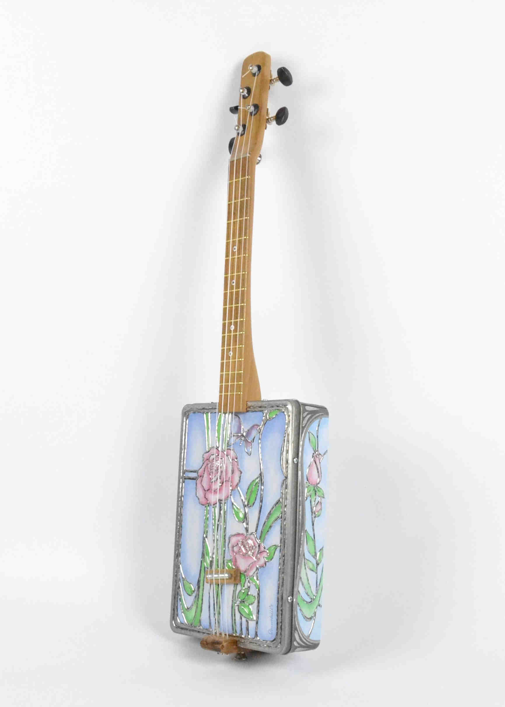 Beautiful Flower Tin Ukulele