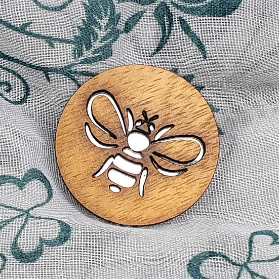 Honey Bee Mirror Brooch