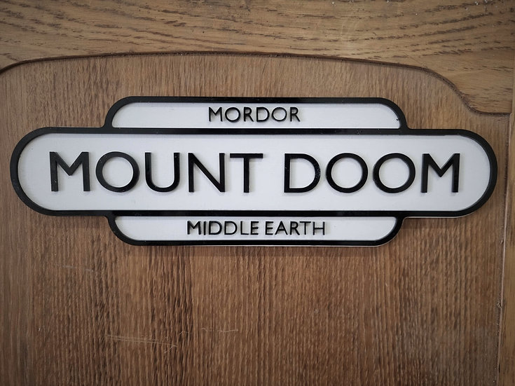 Mount Doom Sign