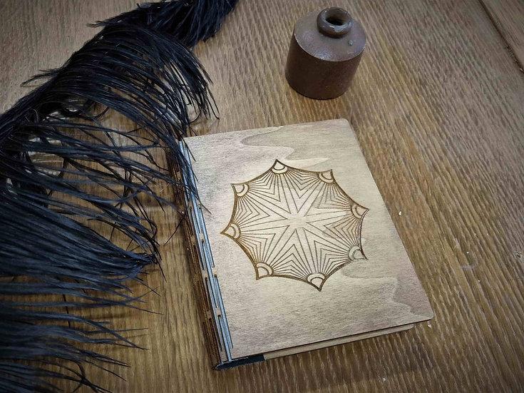 Sphere Design Wooden Notebook