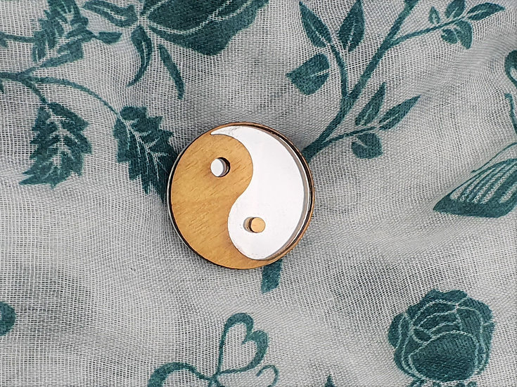 Yin Yang Mirror Brooch