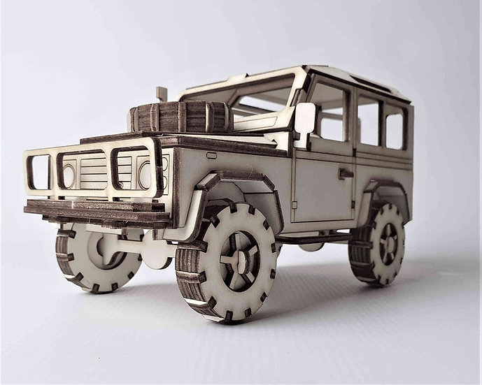 Land Rover Defender 3D Model Kit