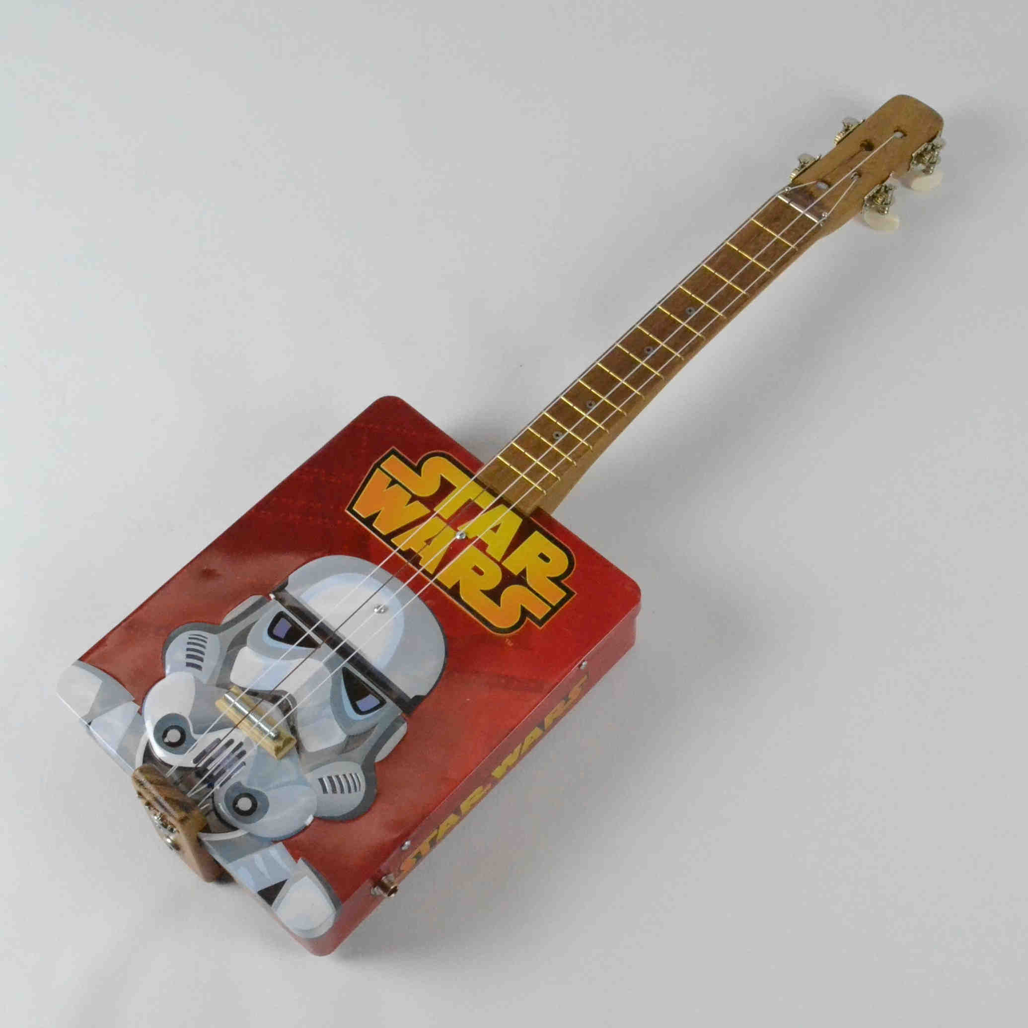 Upcycled Storm Trooper Tin Ukulele