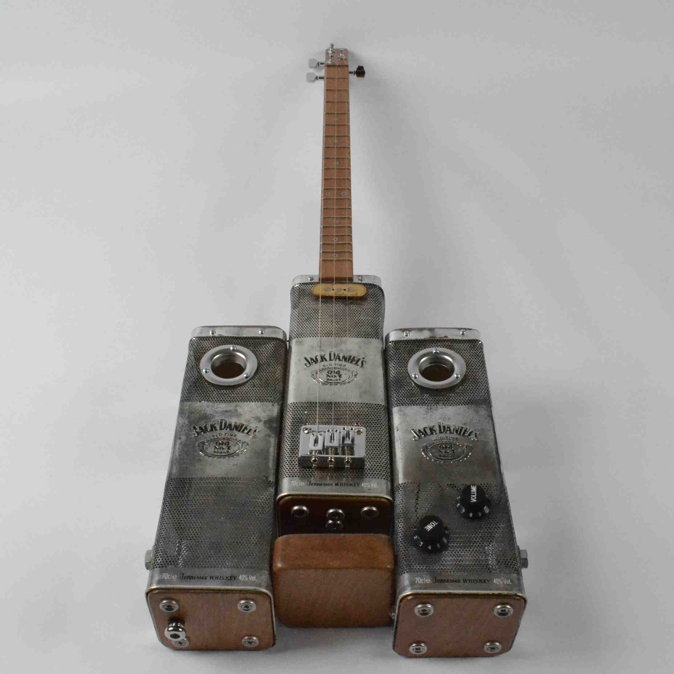 Jack Daniels Steam Punk Tin Guitar