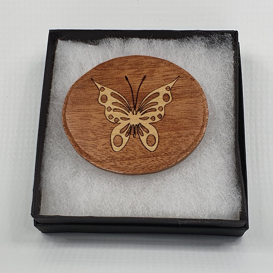 Butterfly Inlay Brooch