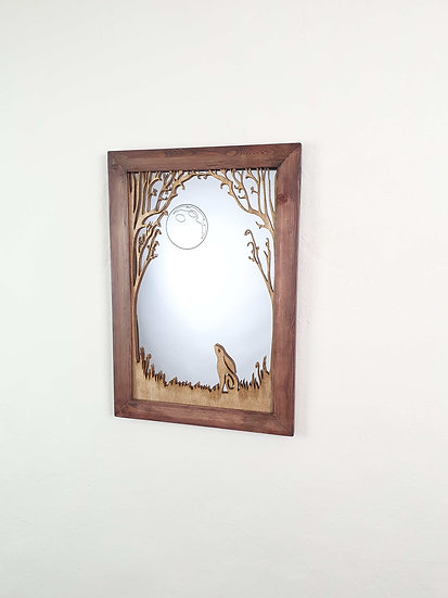 Moon Gazing Hare Mirror