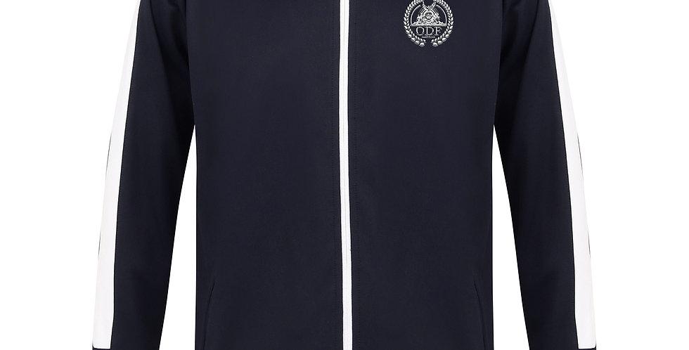 Full-Zip Athletic 2 Piece UNISEX Tracksuit - NAVY BLUE/WHITE