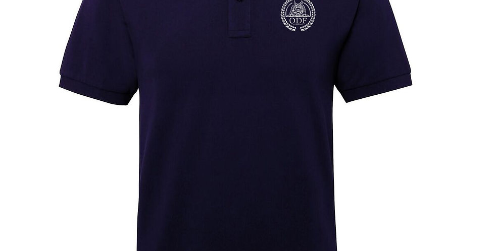 Navy Blue Edge Hill Cotton Stripe Polo - MEN'S