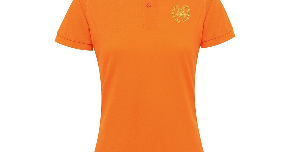 Women's Classic Fitted Orange Polo
