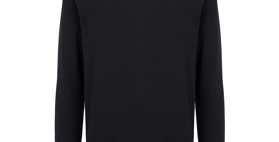 LESS IS MORE BLACK UNISEX SWEATSHIRT JUMPER