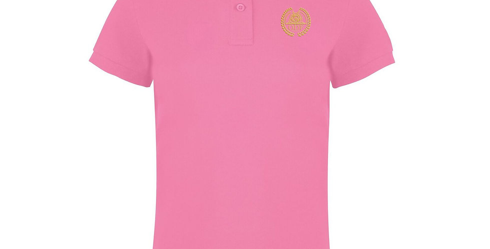 Women's Classic Fitted Pink Polo