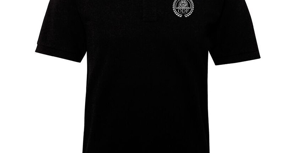 Black Edge Hill Cotton Stripe Polo - MEN'S
