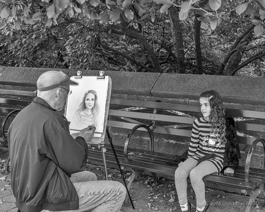 Portrait Artist at Work
