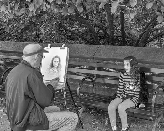 Portrait Artist at Work