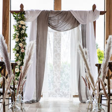 Archway with Boho Luxe drapes