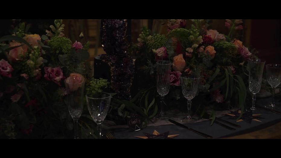 Celestial Gothic featured in Unconventional Wedding ELVASTON CASTLE