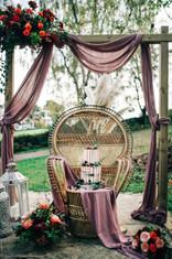 Bohemian wedding backdrop
