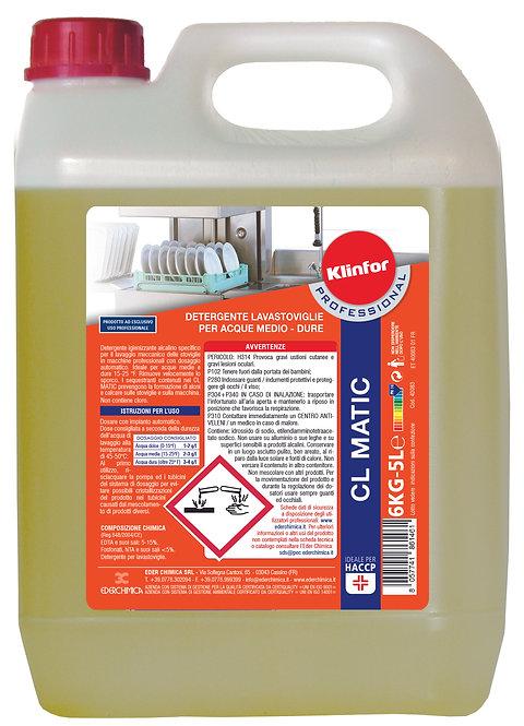 Detergente lavaggio meccanico stoviglie KLINFOR Professional CL MATIC Kg. 6