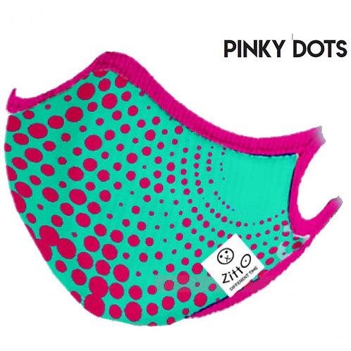 Pinky Dots Zitto Mask vista frontale