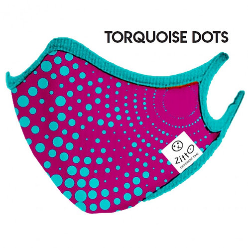 Toquoise Dots Zitto Mask vista frontale