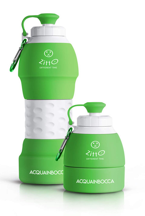 Borraccia ZITTO ACQUAINBOCCA - Verde