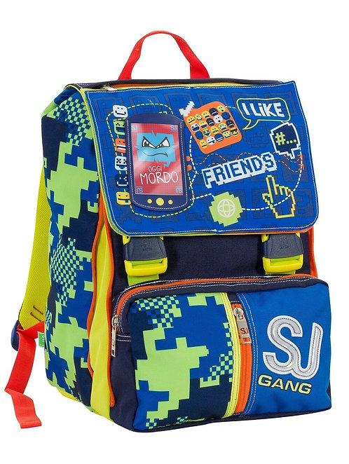 Zaino scuola SEVEN SJGANG BOY FLIP SYSTEM - Blu Giallo