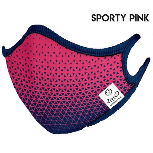 Sporty Pink Zitto Mask vista frontale