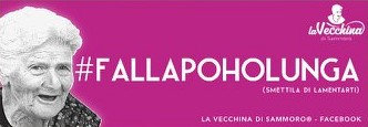 #FALLAPOHOLUNGA (smettila di lamentarti)