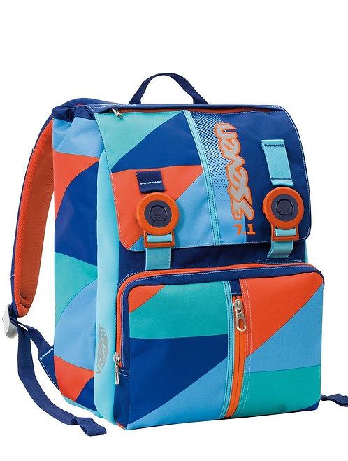 Zaino sdoppiabile SEVEN - PSYCHEDELIC BOY - Arancione Azzurro 28lt