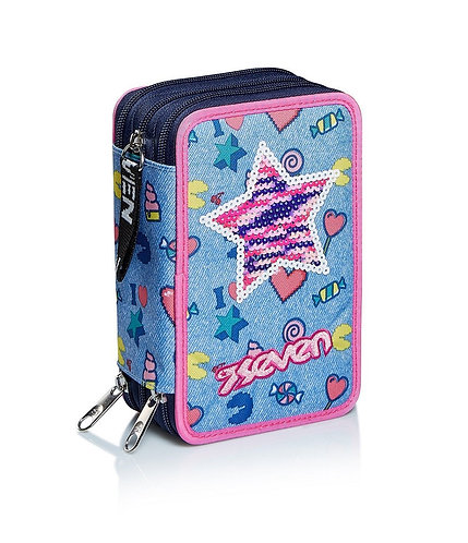 Astuccio 3 zip Seven - STARRY RAINBOW