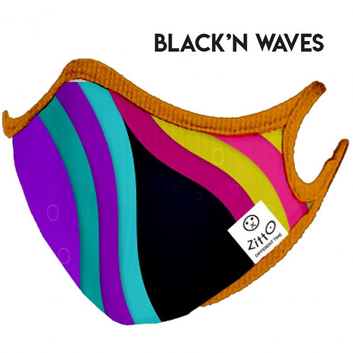 Black'n Waves Zitto Mask vista frontale