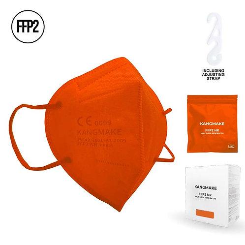 Mascherina FFP2 ARANCIONE con custodia