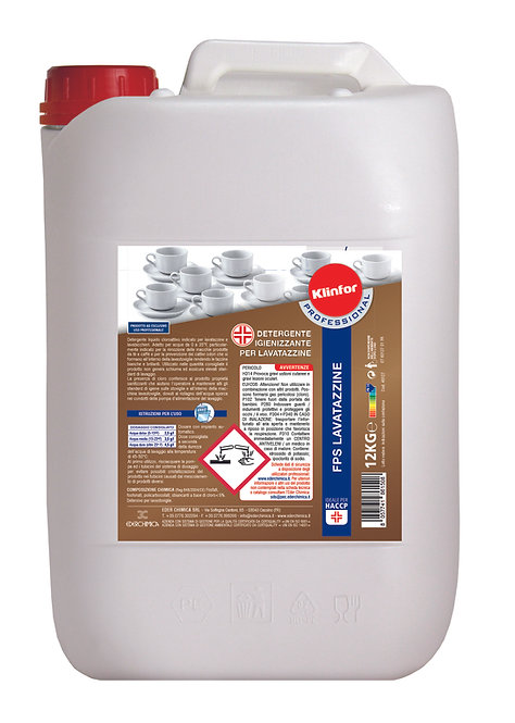 Detergente igienizzante lavattazine KLINFOR Professional FPS LAVATAZZINE 12Kg.