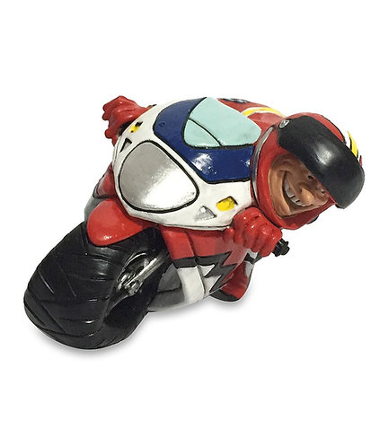 MOTOCICLISTA cm.16,5X7 - LES ALPES Funny collection mestieri